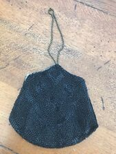 vintage black bead type evening bag ( nice shape )
