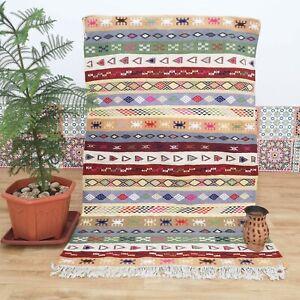 Kilim Moroccan Rug, Tribal Hanbel Rug, Berber Rug, Flat weave Carpet