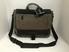 Bellino Autumn Leather Trimmed Messenger Briefcase Crossbody Laptop Carry On Bag