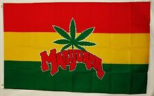 Rasta Colors Marijuana Leaf Flag 3' X 5' Indoor Outdoor Multi-Color Banner