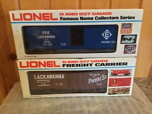 2 Modern Lionel Lackawanna Boxcars #9411, #9726   New in the Boxes