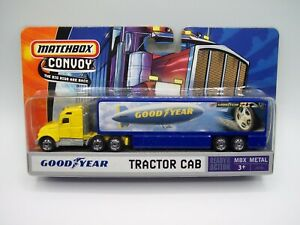 """""""MATCHBOX"""" CONVOY **GOODYEAR** SEMI with TRACTOR CAB MINT ON CARD"""