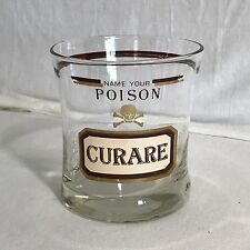 Vintage MCM Name Your Poison Curare Cera Apothekers altmodisch Glas