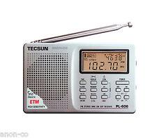 TECSUN PL-606 (Silver Color) PLL DSP Radio FM/MW/SW    << ENGLISH VERSION >>