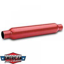 """Cherry Bomb 2,5"""" Auspuffbirne Durchgangsdämpfer Red Hot Auspuff Birne 63,5mm"""