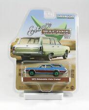 Greenlight Estate Wagons Serie 3, 1972 Oldsmobile Vista Cruiser blau 1:64