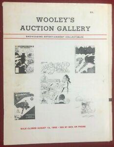 WOOLEY'S AUCTION GALLERY August 12, 1982 comic art & films catalog fanzine VG+