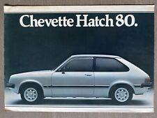 1980 Chevrolet Chevette Hatch original Brazilian sales brochure (2P)