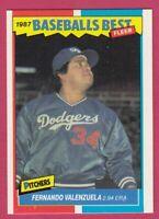 1987 Fleer Baseball Best Sluggers vs Pitchers # 43 Fernando Valenzuela