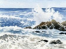 PACIFIC SEASCAPE Watercolor OVERSIZED ART Print by DJR