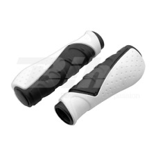562GR Manopole bici ergonomiche in Gel D3 lungo 130mm Colore Grigio/Nero