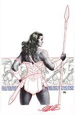 Frank Cho SIGNED DC Comic Super Hero Art Print Wonder Woman / Justice League JLA