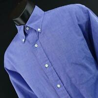 Mens Brooks Brothers 1818 Classic Fit Blue Oxford Dress Shirt Size 16 Large