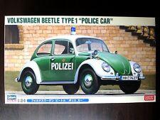 "HASEGAWA 1/24 VOLKSWAGEN  BEETLE TYPE1 ""Police Car"" Spotless & New !"
