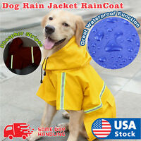 Dog Puppy Rain jacket RainCoat Clothes waterproof small XL size big