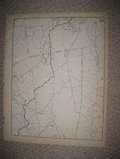 ANTIQUE 1931 BRISTOL WOLCOTT HARTFORD NEW HAVEN COUNTY CONNECTICUT MAP RARE NR