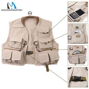 Maxcatch Kids Fly Fishing Youth Vest Children Jacket Multi Pocket 100%Cotton