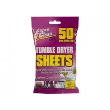 Pack Of 50 Tumble Dryer Sheets - 50pc Freshen Condition Soften Clothing Washing