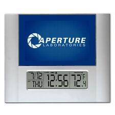 Portal 2 Aperture Laboratories Labs Digital Wall Desk Clock temperature + alarm