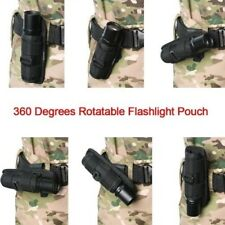 1X Tactical Flashlight Pouch Holster Torch 360 Degrees Rotatable Light Holder