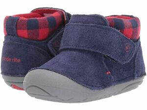 NWOB little boys blue suede shoes / boots by Stride Rite - sz 4 M