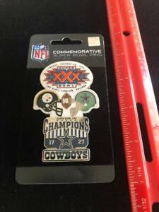 NEW World Champion Cowboys Commemorative Super Bowl XXX Pin Awesome Design NFL