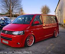 "4 20"" RED Polished Alloy Wheels Tyres 5x120 VW T5 T6 Transporter Van 5x120 x4"
