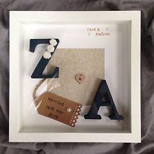 Personalised Wedding Engagement Anniversary 3D Frame Box Gift Present Keepsake