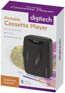 Digitech Portable Cassette Player with earphones Three Function Keys Auto Stop