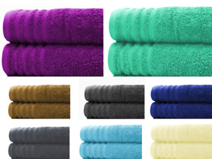 Extra Large Bath Sheets Towels Set | Pack of 2 | 100% Pure Cotton | Super Soft