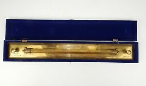 Antique Brass Rolling Parallel Ruler, Martin and Co, Antwerp, Circa 1875