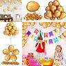 100 Stück Luftballons Metallic 10 Zoll Geburtstag Deko Hochzeit Party Luftballon