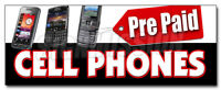 PREPAID CELL PHONES DECAL sticker calling cards disposable long distance