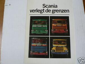 SCANIA TRUCK VRACHTAUTO BROCHURE PROSPEKT 1980 DUTCH 6 PAGES 82M,112M,142H,112H