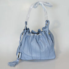 MIMCO COM-PLEAT POUCHE MIST BLUE Large Leather Handbag RRP$499 BNWT Bag Compleat