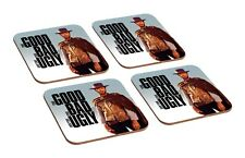 Clint Eastwood The Good The Bad The Ugly 4 Piece Wooden Coaster Set