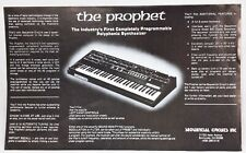 "Vintage Sequential Circuits The Prophet Advertising Flyer 8.75"" x 14.5"""