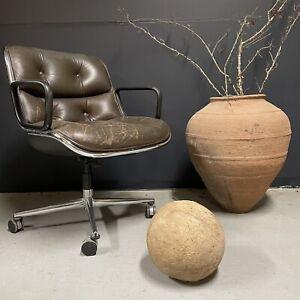 Charles Pollock Knoll Fauteuil de Bureau Cuir Design Vintage Chaise Ancien