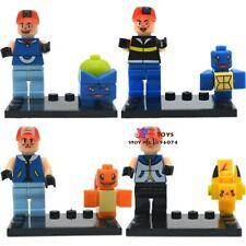 POKEMON GO Mini Figures PIKACHU POKEBALL X 8 Pcs Building Blocks custom Lego