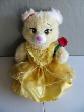 "New ListingBuild A Bear Disney Beauty & The Beast Belle Plush 17"" with Dress & Rose"
