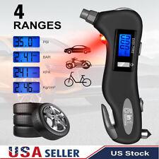 5in1 Lcd Digital Tire Air Pressure Guage Car Bike Truck Meter Tester Tire Gauge