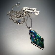 Kendra Scott Lilith Long Pendant Necklace in Abalone Shell Silver