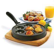Norpro 3113 Nonstick Cast Aluminum Danish Aebleskiver Filled Pancake Pastry Pan