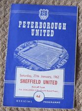Peterborough United  v Sheffield United FA Cup 4th Round 27/01/1962