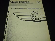 MUSIC EXPRESS air courier service 1982 Music Business PROMO DISPLAY AD mint cond