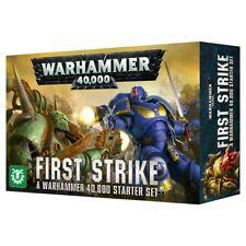 WARHAMMER 40000 FIRST STRIKE STARTER SET Game with Space Marines & Death Guard