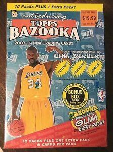 2003-04 Topps Bazooka 🔥 Unopened Box possible  🔥 comic rookie
