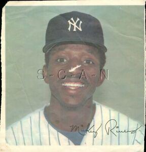Original 1978 New York Yankees Large Baseball Player Lithograph- Mickey Rivers
