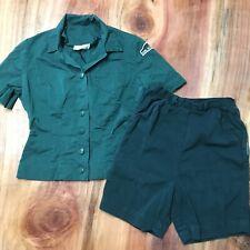 Vintage 50's 60's Girl Scout Leader Teenage Woman Uniform Shirt & Pants Set N5