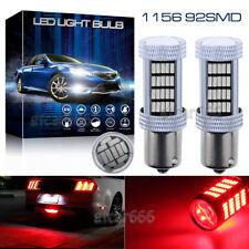 2x 1156 BA15S P21W 92-4014SMD Red Projector LED Backup Reverse Light Bulbs 12V